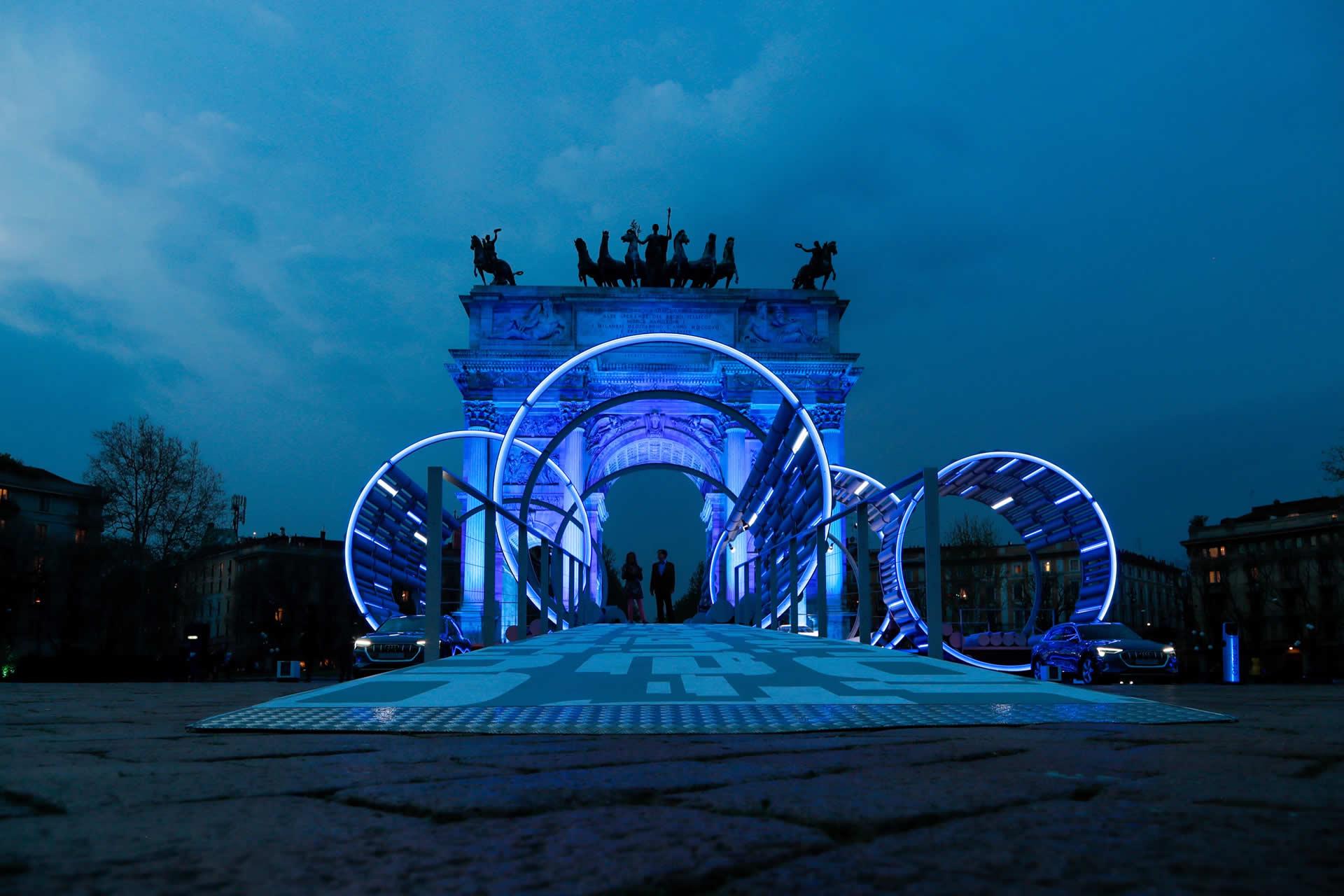 Audi City Lab, l'Arco della Pace al centro della scena